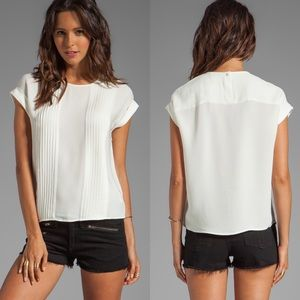 THEORY Sellida Blouse in White
